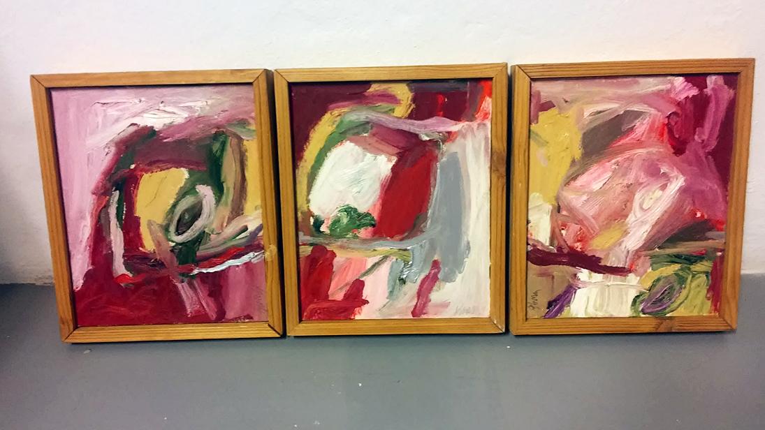 """Tres piezas de """"Incendios"""" de Blanca Prendes / SANTIAGO MARTÍNEZ."""