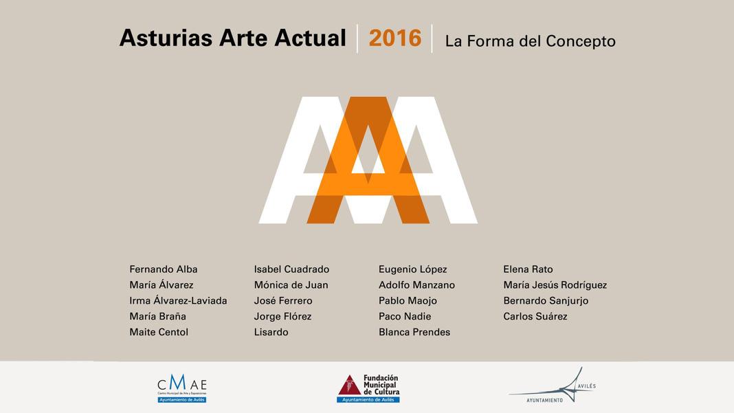 Cartel de Asturias Arte Actual, proyecto que se desarrolla en el CMAE de Avilés / CARTEL: MANUEL FERNÁNDEZ