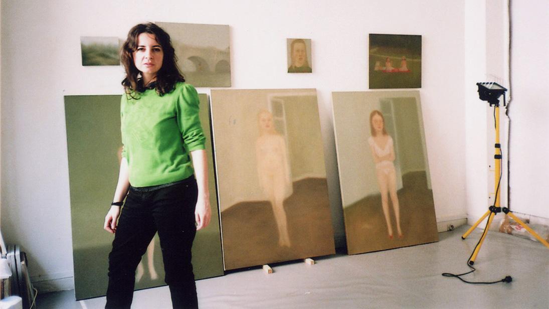 Chechu Álava en su estudio de París